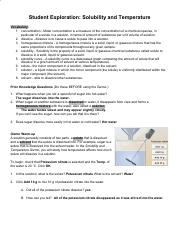 Gather data Now use the Gizmo to measure the solubility of ...