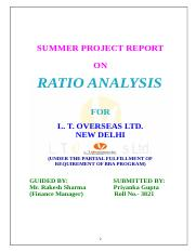 ratio analysis lt