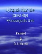 Hydrograph, Water Table contour Maps.ppt