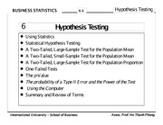 Chapter 07 - Hypothesis Testing