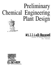 PRELIMINARY CHEMICAL ENGINEERING PLANT DESIGN
