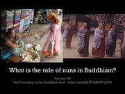 Nuns in buddhism lecture