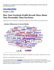 How Your Facebook Profile Reveals More About Your Personality Than You Know