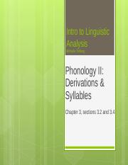 LIN101 Lecture #4 Phonology II