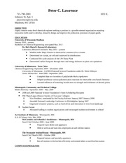 Resume -Lawrence Flambeau River Paper