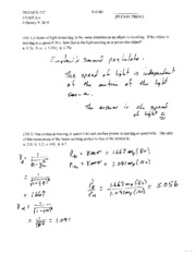 Solutions Exam A SPR 10