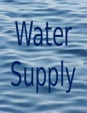Class 10 Water Supply