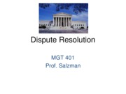 J11 MGT 401 - Dispute Resolution