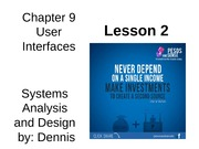 Chap09 Lesson2 User Interfaces