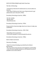 HD FS 239 FINAL EXAM Study Guide Penn State