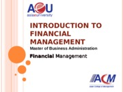 (02) Introduction to Financial Management