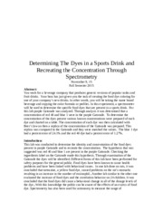Determining The Dyes in a Sports Drink Through Spectrometry