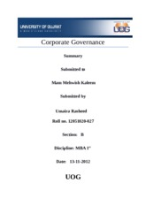 corporate governance first chaptr summary.docx