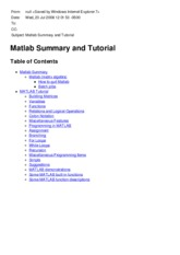 Matlab Summary and Tutorial.mht