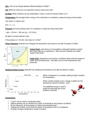 01 Notes - Heating and Cooling Curves