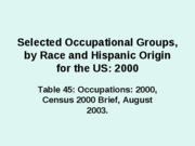 Presentation+B.+Selected+Occupational+Groups%2C+by+Race+and+Hispanic