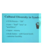 PSYCH 360 Social Psychology - Cultural Diversity in Symbolism