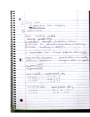 INDS330 Materials Maufacturing Heat Forming & IMP Properties Notes