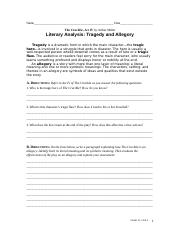 Tragedy and Allegory- Crucible Act IV.doc