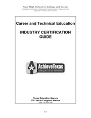 TEXAS 4 Industry Certification Guide