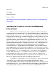 Sciene Article (South Korean Economics..)
