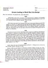 Revolutionary Europe and WWII Events Handout