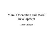 MoralOrientationandMoralDevelopment