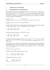 CIVL3510 Chapter 7 Fundamental Laws of Hydraulics(1)