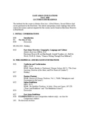 2010 EAC lectures and readings