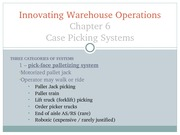 Chapter 06 - Case Picking Systems