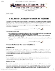 H102 Lecture 28_ The Asian Connection_ The Road to Vietnam