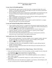 Test 4 Review Sheet