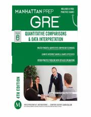 GRE 6 Quantitative Comparisons & Data Interpretation