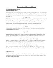 Conservation of Mechanical Energy THEORY(1).docx
