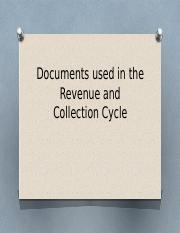 Documents used in the Revenue and Collection Cycle