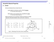 Material Properties Review