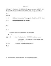 Math 12 Algebra Tips Notes