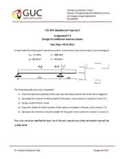 Assignment #8 Design of Reinforced Concrete Structures_Updated