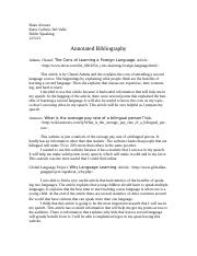 Annotated Bibliography - Persuasion Speech.doc