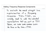 ADDING frequency Responses