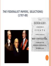 The Federalist Papers, selections (2)