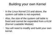 Building your own Kernel