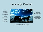 Language Contact Lecture slides