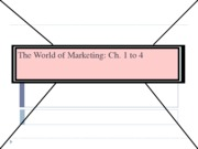 Marketing--Marketing Mix ETC-chapters 1-4-2