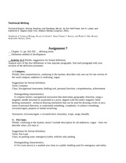 Technical Writing - A7