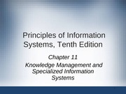 Principles of Information Systems chapter 11