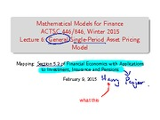 Lecture 6- General Single-Period Asset Pricing Models(scratch)