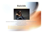 Suicide-Overview and Assessment