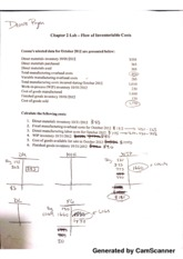 Managerial Acct. Chapter 2 Lab
