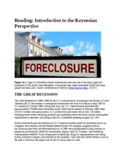 Introduction to the Keynesian Perspective